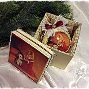 """Подарки к праздникам ручной работы. Ярмарка Мастеров - ручная работа Новогодний шар """"По секрету"""". Handmade."""