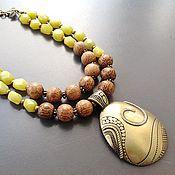 Украшения ручной работы. Ярмарка Мастеров - ручная работа Колье Джунгли Амазонки с лимонным нефритом. Handmade.