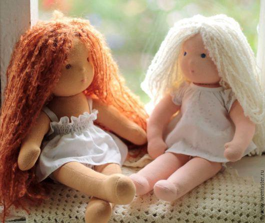 Вальдорфская игрушка ручной работы. Ярмарка Мастеров - ручная работа. Купить Вальдорфские куклы- голышки 34 см. Handmade.