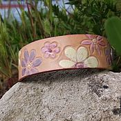 Украшения handmade. Livemaster - original item Leather cuff bracelet