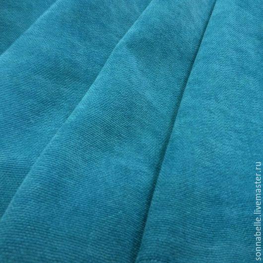 Шитье ручной работы. Ярмарка Мастеров - ручная работа. Купить Портьерная ткань для штор ворсовая Бирюзовый. Handmade. Разноцветный, шторы