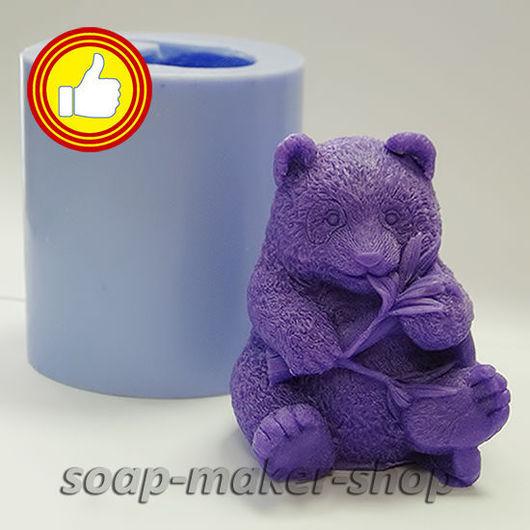 Материалы для косметики ручной работы. Ярмарка Мастеров - ручная работа. Купить Силиконовая форма для мыла «Панда 3D». Handmade.