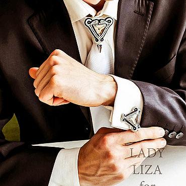 Украшения ручной работы. Ярмарка Мастеров - ручная работа Брошь на галстук Эдуард Вариант 2. Украшения для мужчин. Handmade.