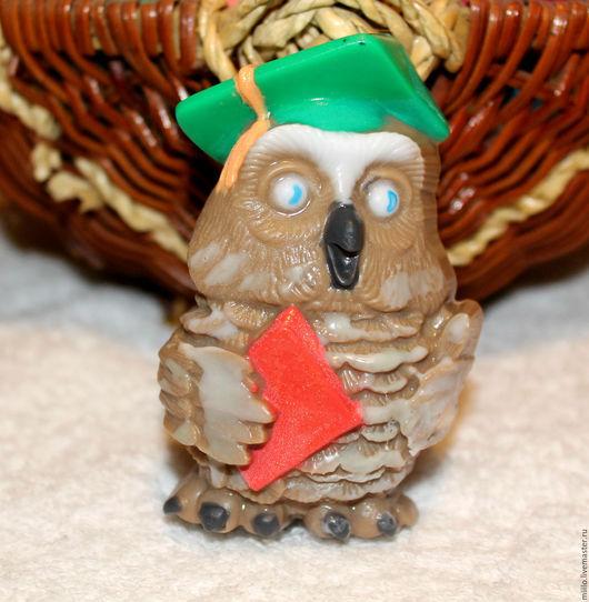 Мыло ручной работы. Ярмарка Мастеров - ручная работа. Купить мыло Сова. Handmade. Подарок на день учителя, сувениры и подарки