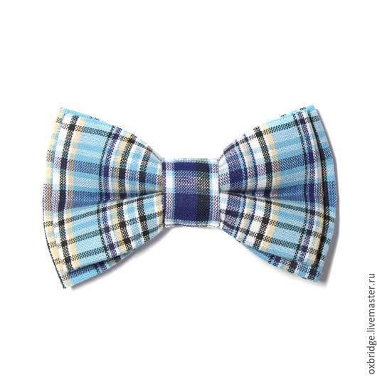 Галстуки, бабочки ручной работы. Ярмарка Мастеров - ручная работа. Купить Галстук бабочка в сине-голубую клетку / Бабочка галстук в клетку. Handmade.