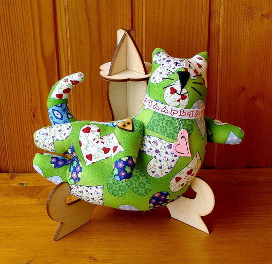 """Игрушки животные, ручной работы. Ярмарка Мастеров - ручная работа. Купить Игрушка летящий кот """"Сердечный кот"""". Handmade. Подарок"""