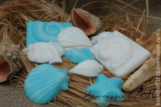 """Мыло ручной работы. Ярмарка Мастеров - ручная работа. Купить Набор мыла ручной работы """"Морская свежесть"""". Handmade. Голубой"""