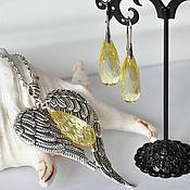 """Украшения ручной работы. Ярмарка Мастеров - ручная работа Комплект """"Под крылом ангела-2"""". Handmade."""