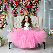Работы для детей, handmade. Livemaster - original item The skirt is tutu of soft tulle for girls. Handmade.