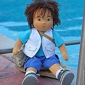Куклы и игрушки ручной работы. Ярмарка Мастеров - ручная работа текстильная кукла в вальдорфском стиле мальчик Диего, 32см. Handmade.