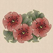 """Материалы для творчества handmade. Livemaster - original item Machine Embroidery Design """"Air Poppies"""" bt023. Handmade."""