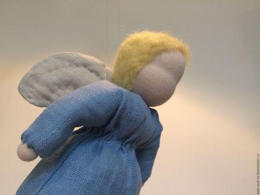 Вальдорфская игрушка ручной работы. Ярмарка Мастеров - ручная работа. Купить Ангел Рождества, вальдорфская куколка. Handmade. Голубой
