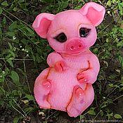 """Материалы для творчества handmade. Livemaster - original item Авторская 3D Силиконовая форма для мыла """"Милая свинка"""". Handmade."""