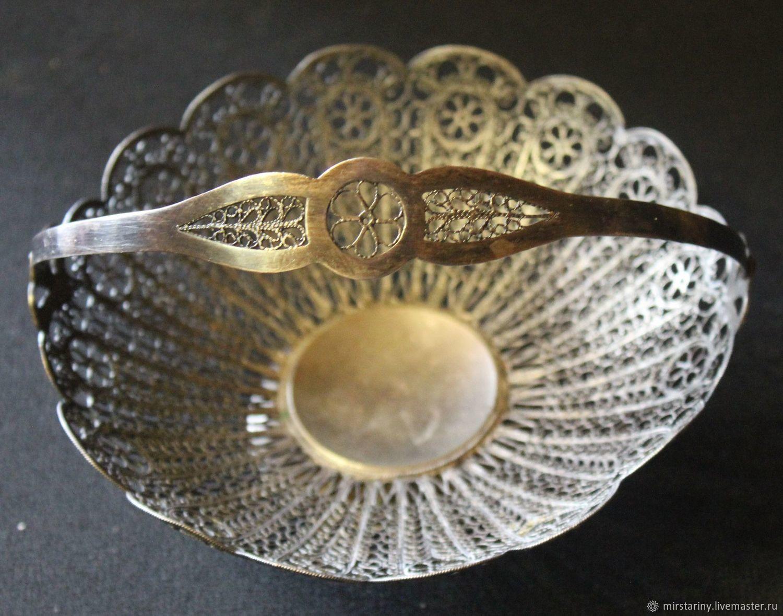 Beautiful, openwork breadcrumbs with handle, scan, filigree, USSR, Vintage kitchen utensils, Moscow,  Фото №1