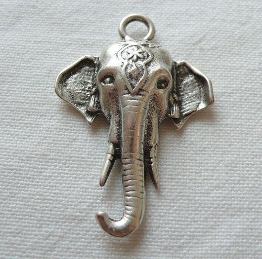 Для украшений ручной работы. Ярмарка Мастеров - ручная работа. Купить Подвеска Слон. Handmade. Подвеска, слон, античное серебро