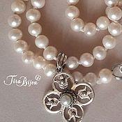Украшения handmade. Livemaster - original item Vintage pearl necklace with handmade pendant. Handmade.