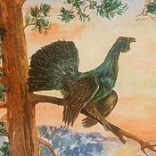 Картины и панно ручной работы. Ярмарка Мастеров - ручная работа Глухарь. Птица акварелью. Handmade.