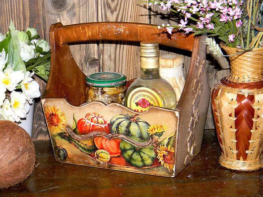 """Кухня ручной работы. Ярмарка Мастеров - ручная работа. Купить Корзинка """"Овощная"""". Handmade. Корзинка, коробка"""