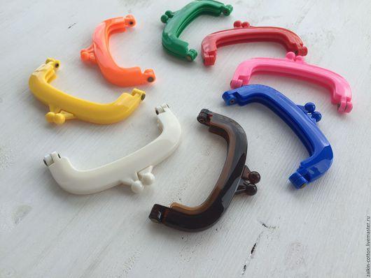 Шитье ручной работы. Ярмарка Мастеров - ручная работа. Купить Фермуар пластиковый 100 мм., 8 ярких цветов. Handmade.