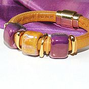 Украшения handmade. Livemaster - original item Bracelet Regaliz Purple Mustard. Handmade.