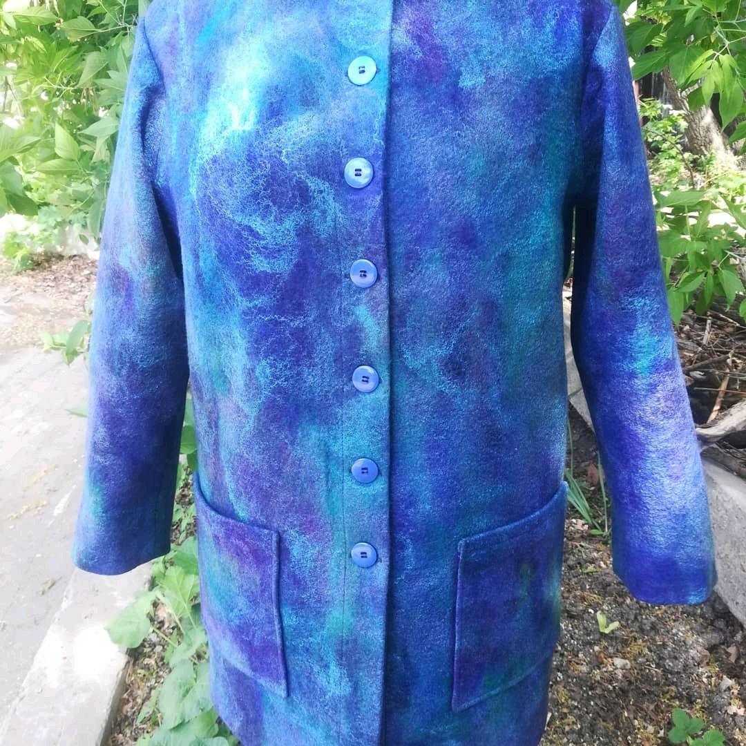 Пальто-жакет в оттенках синего, Пальто, Самара,  Фото №1
