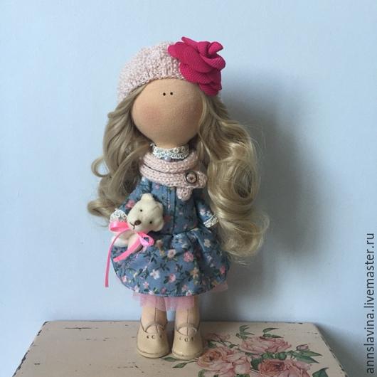 Коллекционные куклы ручной работы. Ярмарка Мастеров - ручная работа. Купить Интерьерная кукла. Handmade. Голубой, портретная кукла