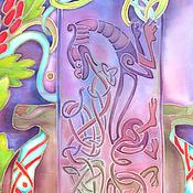 Картины и панно ручной работы. Ярмарка Мастеров - ручная работа Картина батик. Панно Кельтские ритмы. Картина на шелке. Натюрморт. Handmade.