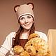 Шапки ручной работы. Ярмарка Мастеров - ручная работа. Купить Медведица вязаная шапка. Handmade. Коричневый, медведь, Стильная