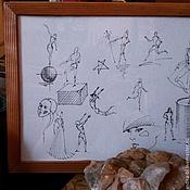 Картины и панно ручной работы. Ярмарка Мастеров - ручная работа Цирк графика. Handmade.