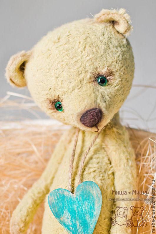Мишки Тедди ручной работы. Ярмарка Мастеров - ручная работа. Купить Верю в любовь.... Handmade. Салатовый, коллекционный мишка, дерево
