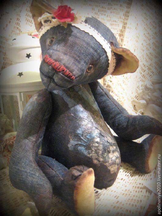 Мишки Тедди ручной работы. Ярмарка Мастеров - ручная работа. Купить Мия....мишка-тедди. Handmade. Мишка, мишки, джинса