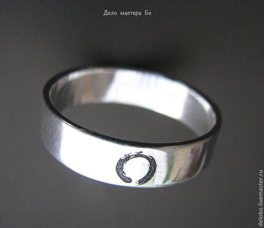 Кольца ручной работы. Ярмарка Мастеров - ручная работа. Купить Кольцо с гравировкой дзен. Handmade. Серебряный, мир, обручальные кольца