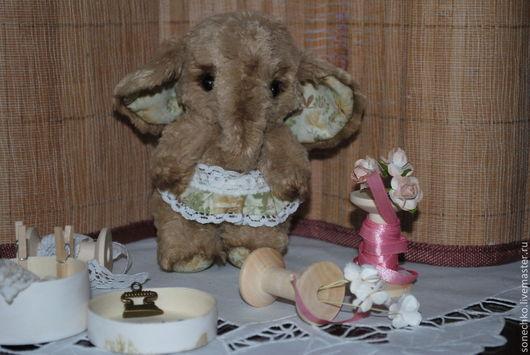 Мишки Тедди ручной работы. Ярмарка Мастеров - ручная работа. Купить Слоняшка Сонечка. Handmade. Бежевый, нежная, холофайбер