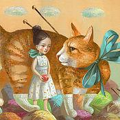 Картины и панно ручной работы. Ярмарка Мастеров - ручная работа Картина Носочек для рыжего котика. Handmade.