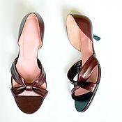 """Обувь ручной работы. Ярмарка Мастеров - ручная работа Туфли """"Бантики"""". Handmade."""