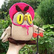 Куклы и игрушки ручной работы. Ярмарка Мастеров - ручная работа Умная сова ,вязаная игрушка. Handmade.