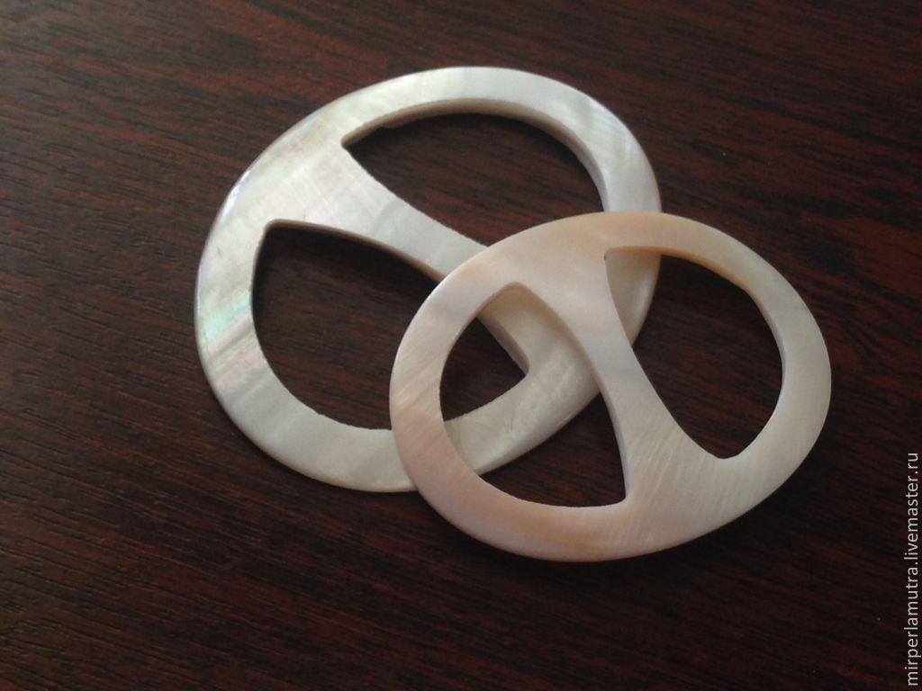 """Кольцо """"Перламутровое""""  для платка из перламутра (2 размера) – купить на Ярмарке Мастеров – 63F3LRU   Фурнитура, Обнинск"""