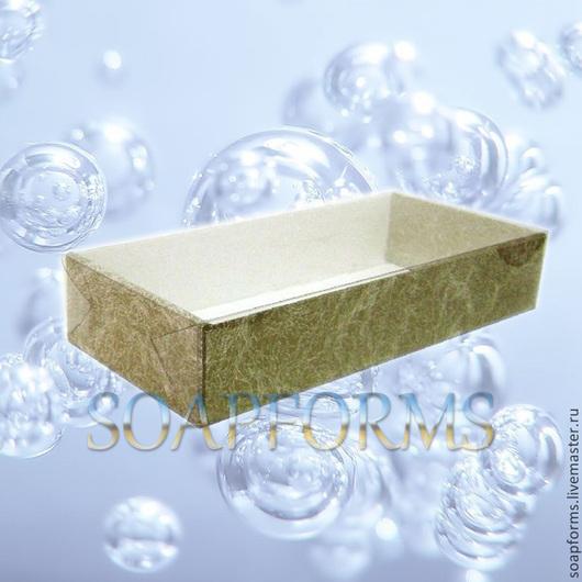 Коробка подарочная бронза, прозрачная крышка
