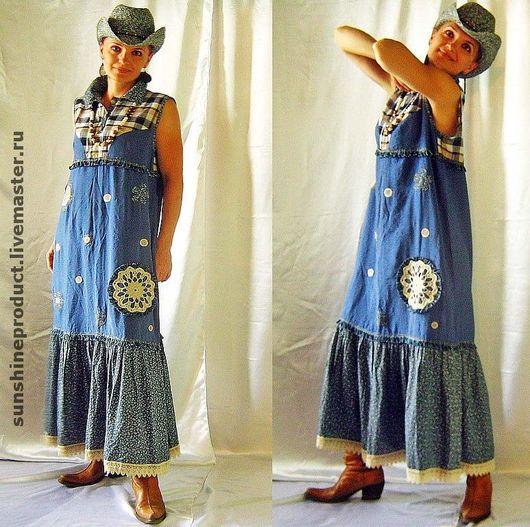 Dresses handmade. Livemaster - handmade. Buy dress 'rustic chic'.Africa, dressy sundress, len