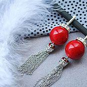 Украшения handmade. Livemaster - original item Earrings coral