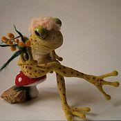 Куклы и игрушки ручной работы. Ярмарка Мастеров - ручная работа Лягушка тетя Лида. Handmade.
