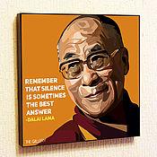 Подарки к праздникам handmade. Livemaster - original item The picture of the Dalai Lama in the style of Pop Art. Handmade.
