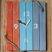 """Для дома и интерьера ручной работы. Ярмарка Мастеров - ручная работа Настенные часы """"Мои морские горизонты"""". Handmade."""