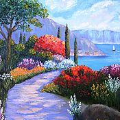 """Картины и панно ручной работы. Ярмарка Мастеров - ручная работа """"Средиземноморье: Сады побережья"""" Картина маслом. Handmade."""