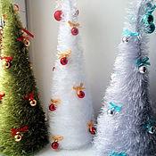 Подарки к праздникам ручной работы. Ярмарка Мастеров - ручная работа Новогодние елки из ниток. Handmade.