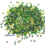 Материалы для творчества handmade. Livemaster - original item 10g Miyuki 15/0 MIX 57 spring foliage of Japanese seed beads Miyuki round mix. Handmade.