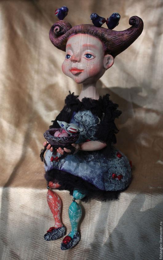 Коллекционные куклы ручной работы. Ярмарка Мастеров - ручная работа. Купить авторская кукла Зося... Все птички возвращаются домой. Handmade.