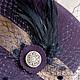 """Шляпы ручной работы. Шляпка -клош """"Анита"""" из фиолетового фетра. Лидия Бондарева (Right Hats). Интернет-магазин Ярмарка Мастеров."""