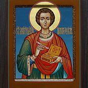 Картины и панно handmade. Livemaster - original item The icon of St. Panteleimon (handwritten). Handmade.