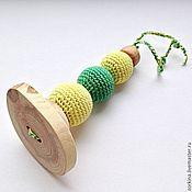 Куклы и игрушки ручной работы. Ярмарка Мастеров - ручная работа Игрушка для малыша грызунок-палочка (прорезыватель). Handmade.